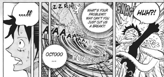 One Piece chapter 911 - The Octopus really was interested in Luffy