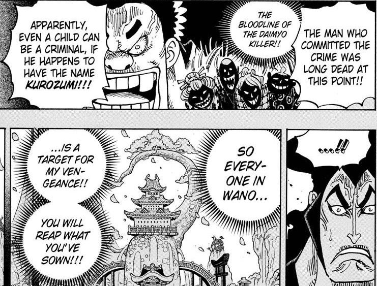 One Piece chapter 971 - The reason for Orochi's desire to bring Wano Kuni to ruin