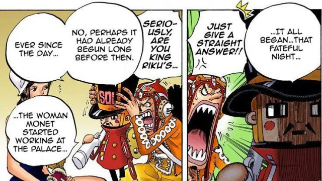 One Piece chapter 727 - Kyros notes Monet's presence began the events