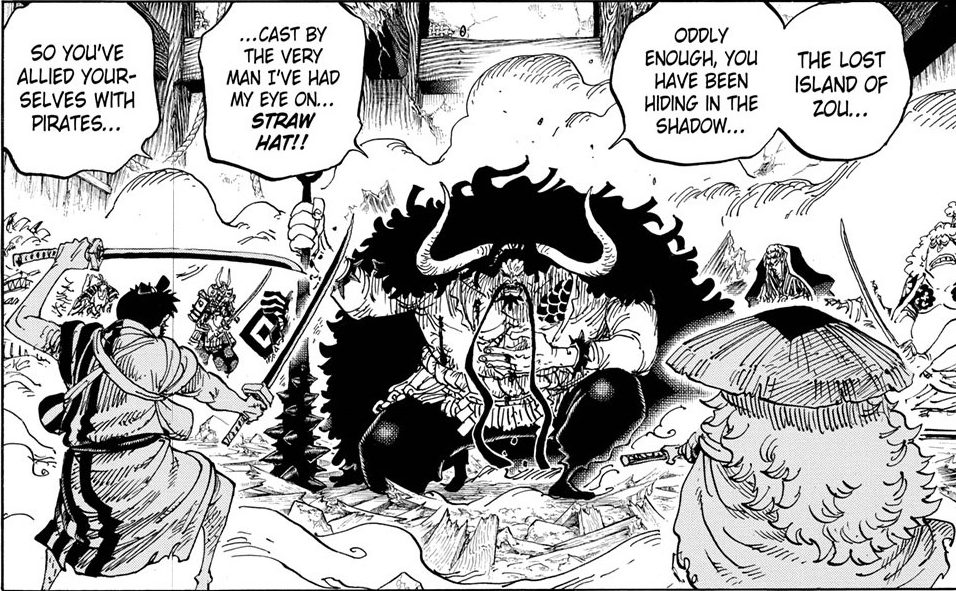 One Piece chapter 987 - Kaido realises the truth behind Orochi's fears
