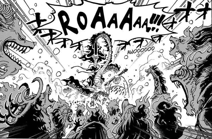 One Piece chapter 988 - Sulong Awakened Mink VS Beast Pirates