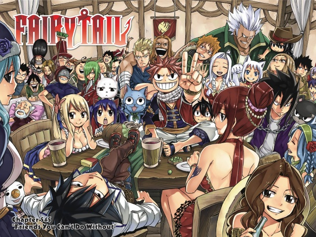 Fairy Tail chapter 545 - color spread of Fairy Tail guild