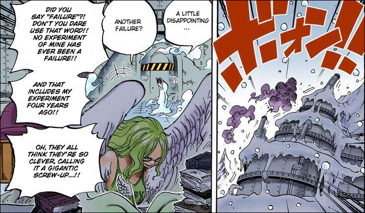 One Piece chapter 664 - Monet's researching while working undercover as Caesar's secretary