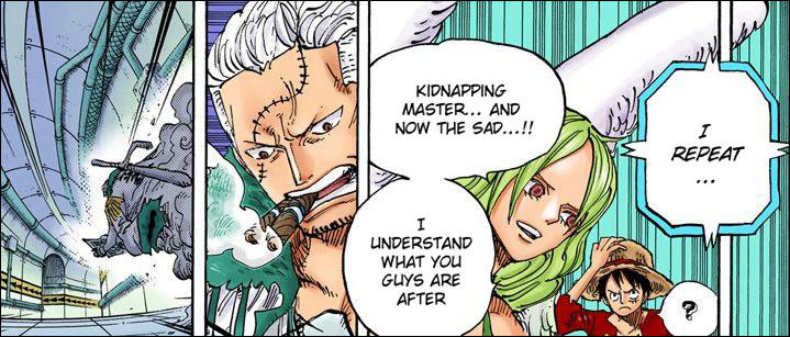 One Piece chapter 681 - Monet is aware why SAD and Caesar are so valuable