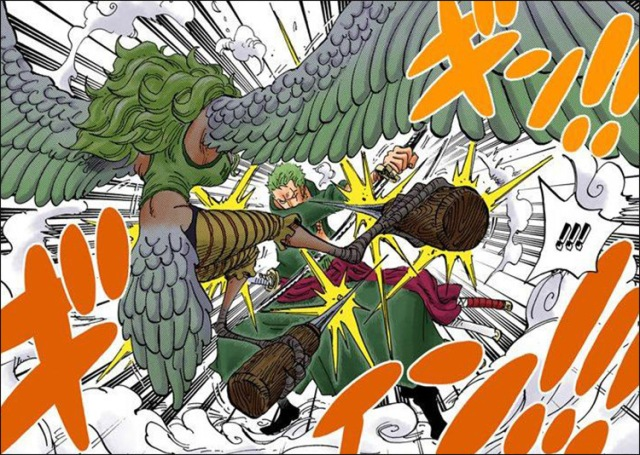 One Piece chapter 686 - Monet engages with Zoro