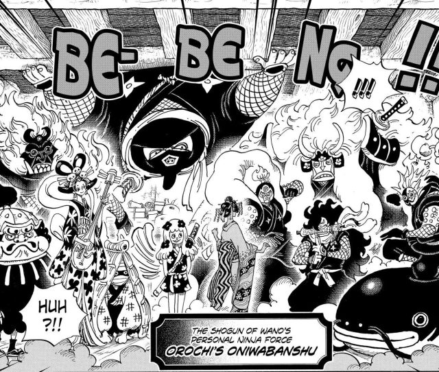 One Piece chapter 931 - The Orochi Oniwabanshu is introduced