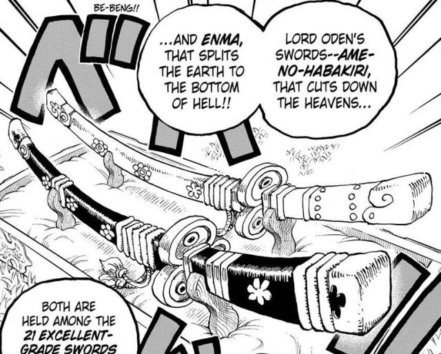 One Piece chapter 955 - Enma and Ame no Habakiri