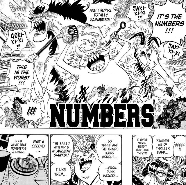 One Piece chapter 989 - Three more Numbers appear