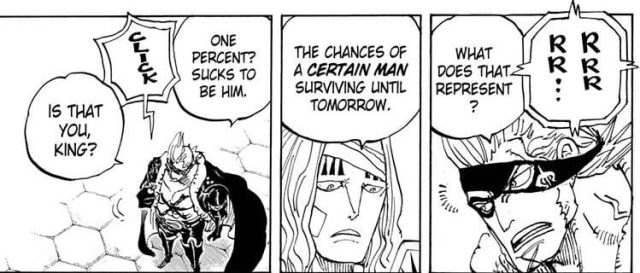 One Piece chapter 990 - Hawkins predicts Drake's survival rate