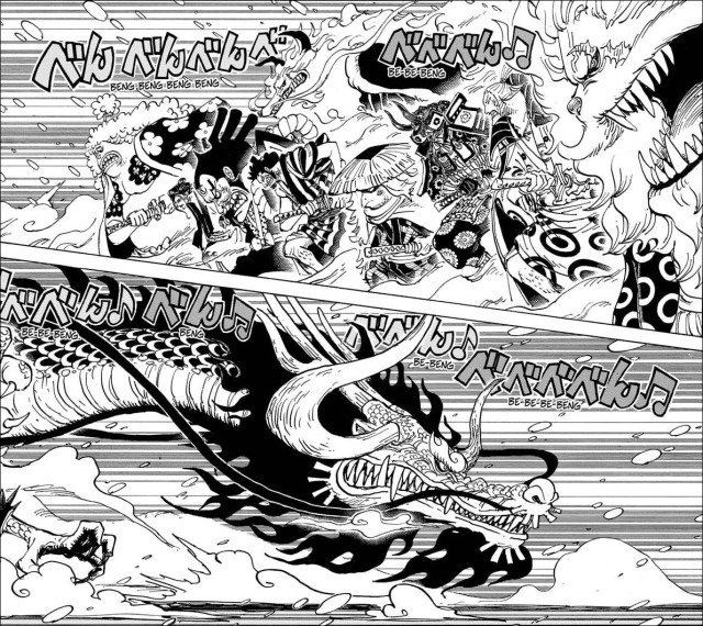 One Piece chapter 992 - The Akazaya Nine VS Kaido
