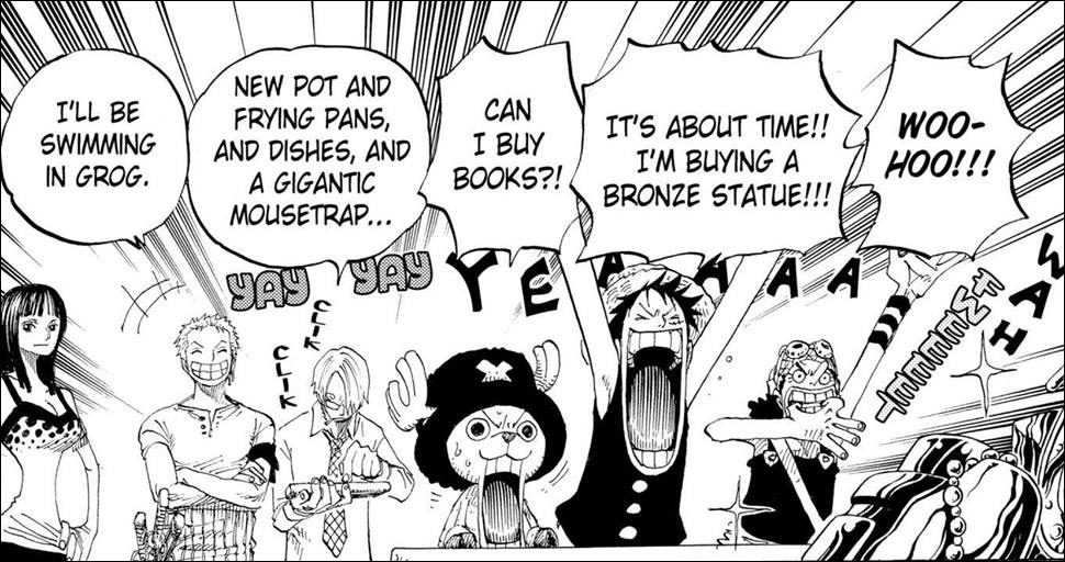 One Piece chapter 303 - Luffy wants a Bronze Statue