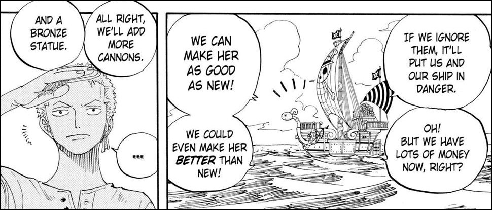 One Piece chapter 323 - Luffy wants a Bronze Statue