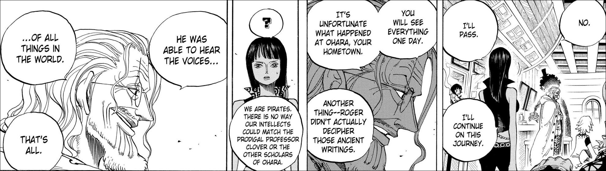 One Piece chapter 507 - the importance of Robin