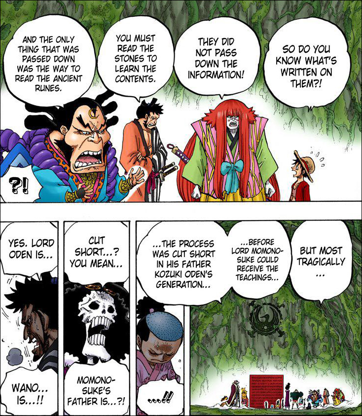 One Piece chapter 818 - The skills passed on through the generation of the Kozuki clan
