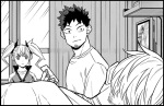 Kaiju No.8 chapter 22 - Kafka and Kikoru greet Leno when he wakes up after recovering from his injuries