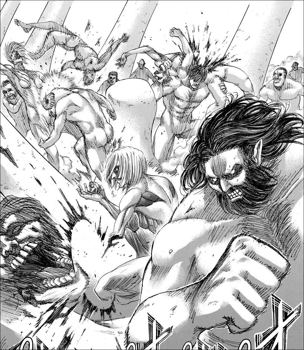 Shingeki no Kyojin chapter 137 - The will of the Titans grant them freedom