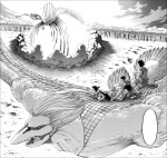 Shingeki no Kyojin chapter 137 - Armin releases his Colossal Titan transformation