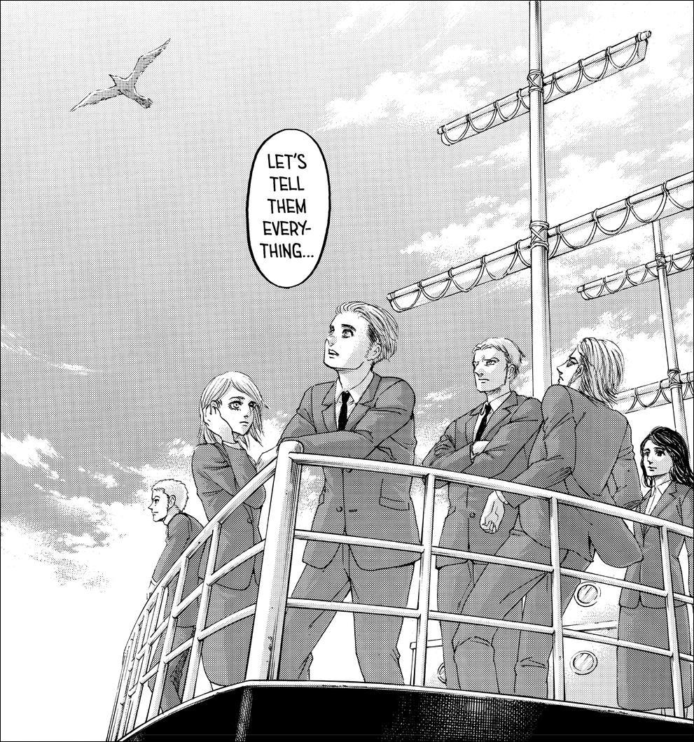 Shingeki no Kyojin chapter 139 - The Ambassadors of Peace following a new path forward