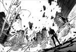 Kaiju No.8 chapter 32 - Kafka's knocks the Kaiju bomb into the sky saving the Defense Force