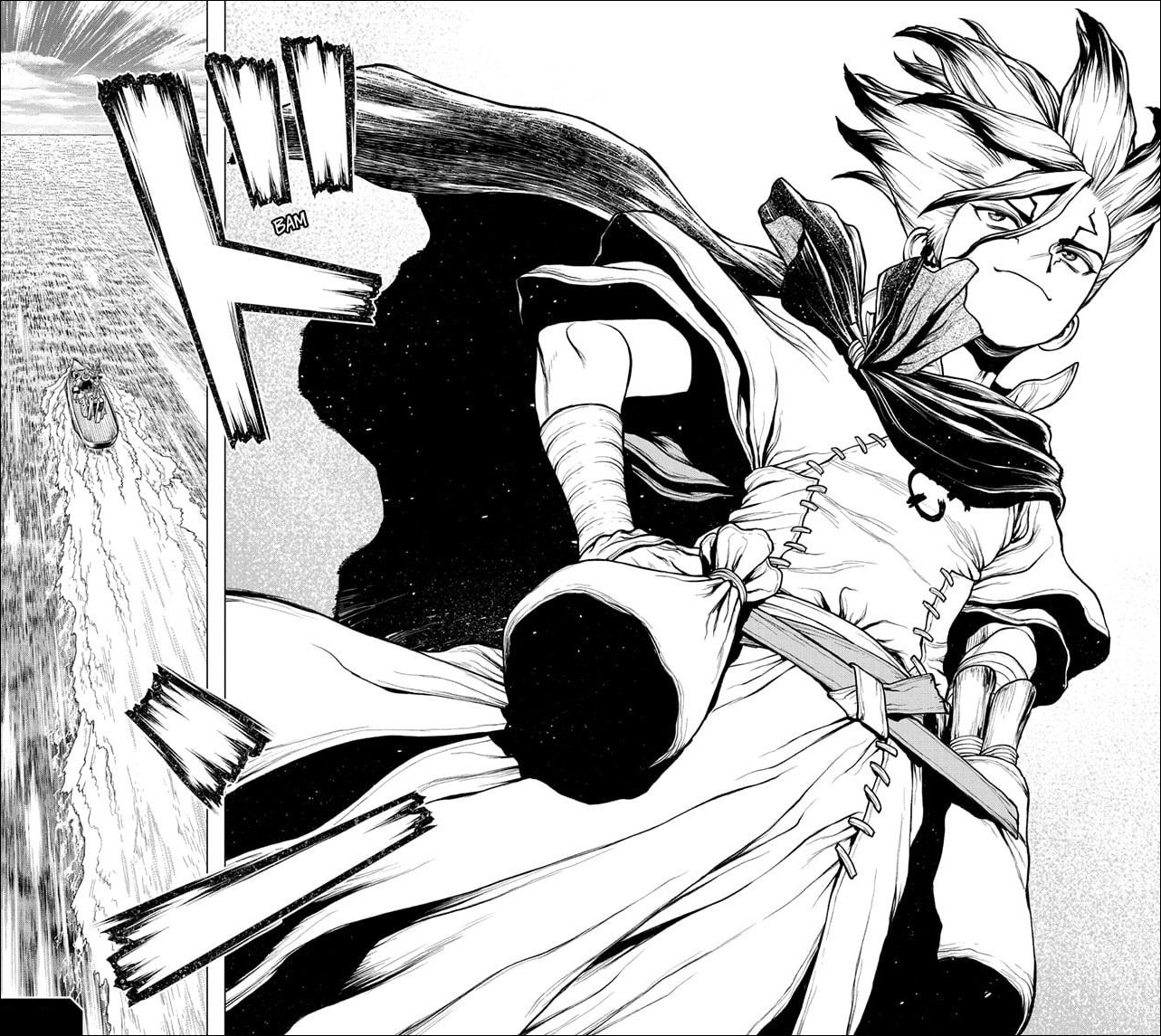 Dr. Stone chapter 200 - Senku heads across the Atlantic to build other cities and procure more resources for the spaceship construction