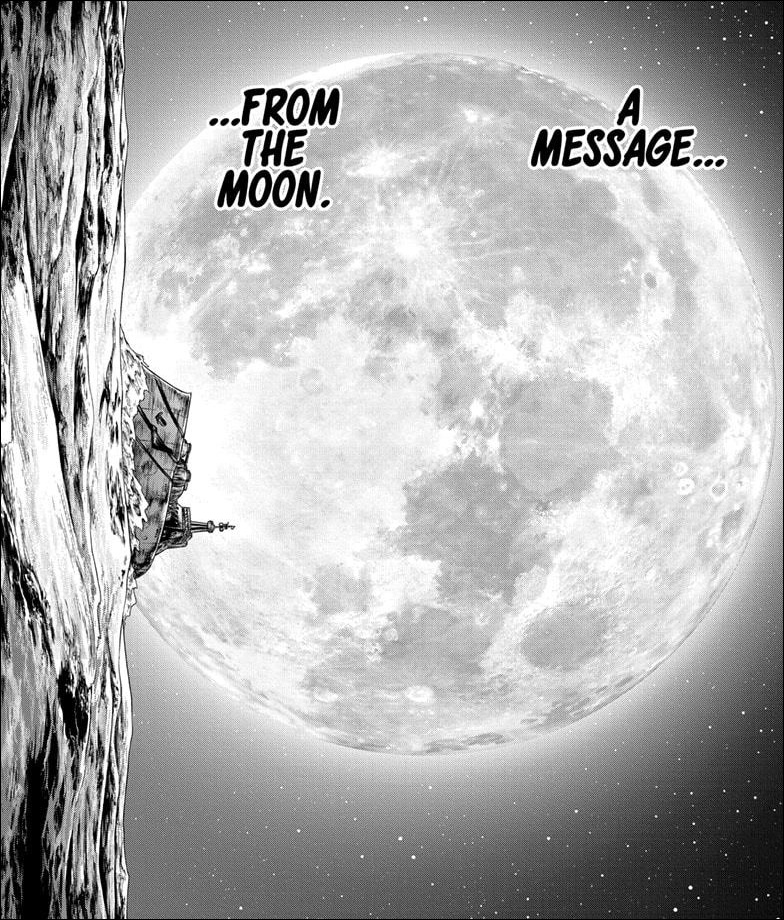 Dr. Stone chapter 201 - The Science Kingdom receives a message from the Moon