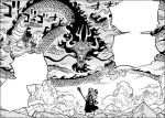 One Piece chapter 1016 - Yamato facing off against Kaido alone