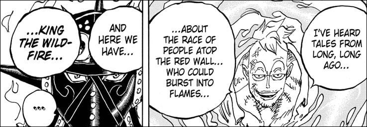 One Piece chapter 1022 - Marco reveals the race King belongs to used to exist atop the Red Line