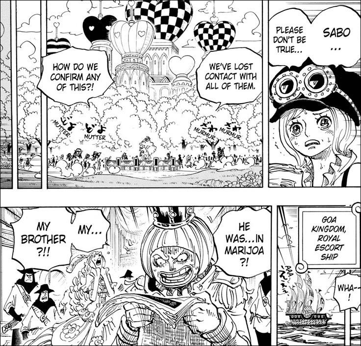 One Piece chapter 956 - The Revolutionary Army unable to contact Sabo and those involved in the mission in Mary Geoise