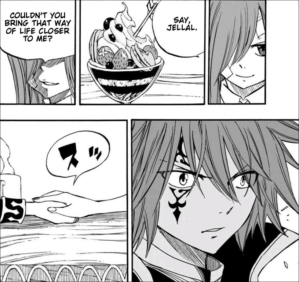 Fairy Tail: 100 Years Quest Chapter 90 - Erza reaching out toward Jellal