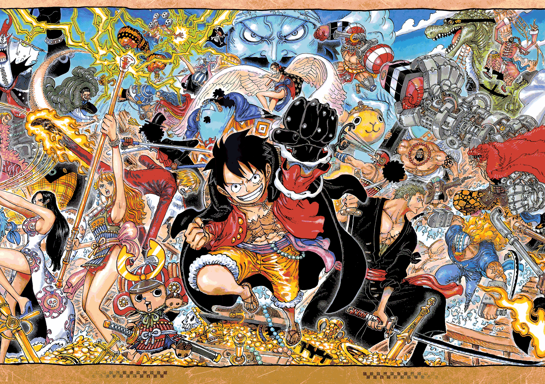 One Piece chapter 1024 - Colour Spread